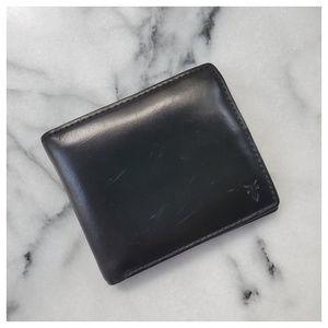 MEN'S Frye David Bi-Fold Wallet Black Leather